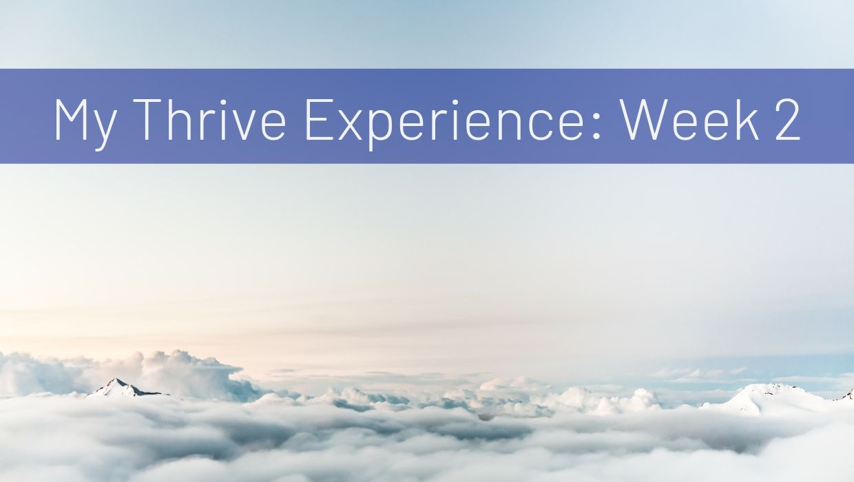 My Thrive Experience: 2 Week Update